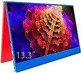 cocoparR モバイルモニタ 13.3インチフルHDIPSゲーミングモニター/5V USB-C ゲーム/HDMI/PS3/XBOX/PS4モニター1080PダブルHDMI(厚さ4mm/重さ405g/カーバ付660g)【注文日から二年間保証】