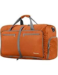 Gonex 折りたたみボストンバッグ 撥水ナイロン 40L 軽量 ショルダーバッグ 機内持ち込 旅行/ジム/修学