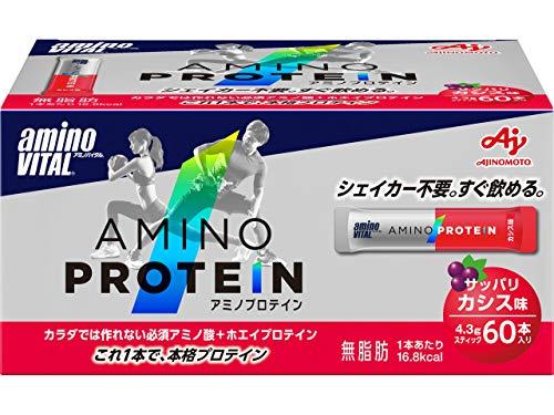 アミノバイタル アミノプロテイン カシス味 1セット 60本×3箱 味の素 プロテイン