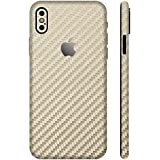 [全31色] wraplus for iPhoneX [ゴールドカーボン] スキンシール 全面 (背面/側面) ケース iPhone x