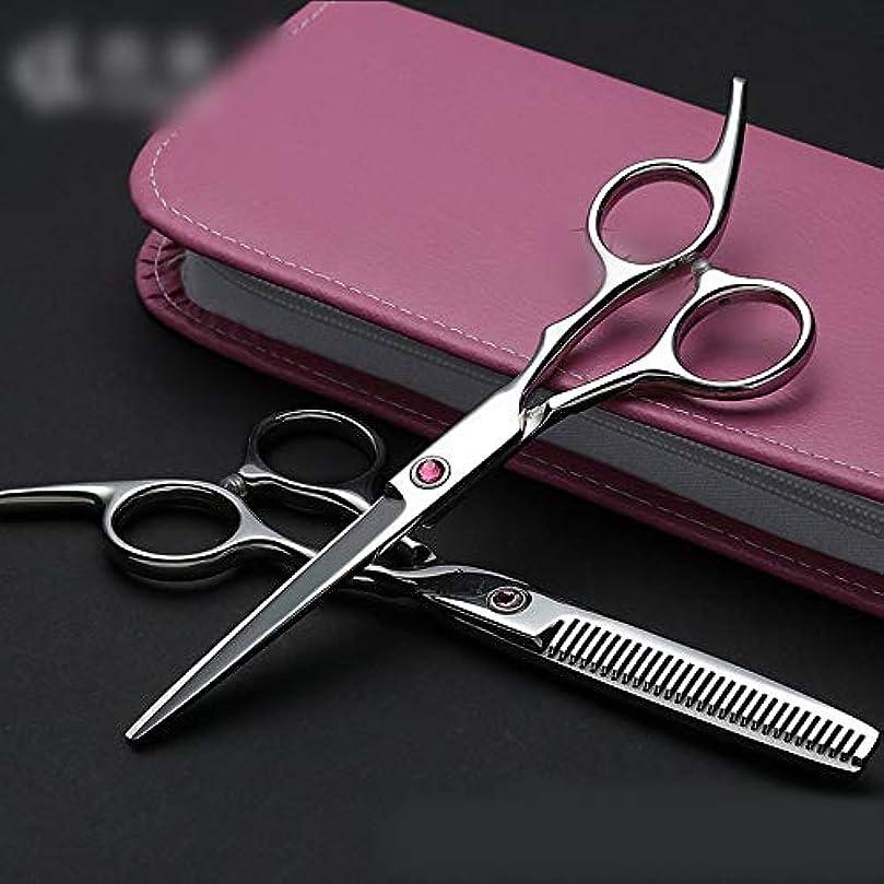 準備した拡声器ライセンス理髪用はさみ 6インチプロフェッショナル理髪セット、フラット+歯はさみ理髪はさみセットヘアカット鋏ステンレス理髪はさみ (色 : Pink diamond)