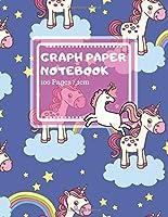 "Graph Paper Notebook: Cute Unicorn Pattern Design - Math Notebook for Kids, Girls (Mathematics brochure) - 100 Pages, 8.5"" × 11"""