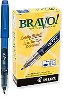 パイロットBravo液体インクペン、マーカー太字ポイント、ブラックインク(11030) Dozen Box