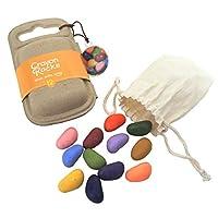 クレヨンロック12色 (CrayonRocks) 大豆と蜜蝋からできた石ころみたいな安心クレヨン 出産祝い 入学祝い 入園祝い ギフト プレゼント