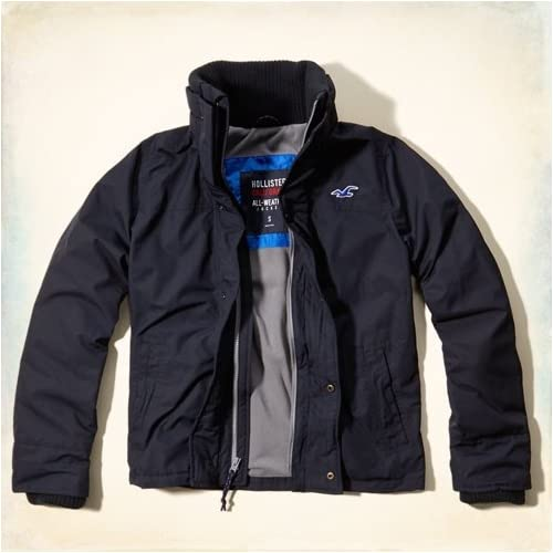 Hollister Co. ホリスター The Hollister All-Weather Jacket [COLOR: ネイビー ][SIZE: M ] [並行輸入品]