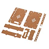 KKmoon アクリル DIYケース アクリルDIYケースカバーシェル AUXインターフェイス付き TDA7492P 2 * 25W ワイヤレスBT 4.0オーディオレシーバアンプボードモジュール用