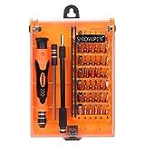 Showpin 45 in 1精密ドライバーセット 多機能ツールキット スマホ/パソコン/カメラなどの分解工具 コンパクト 電子製品の修理・開腹・分解・修復ツール スクリュードライバー 携帯便利