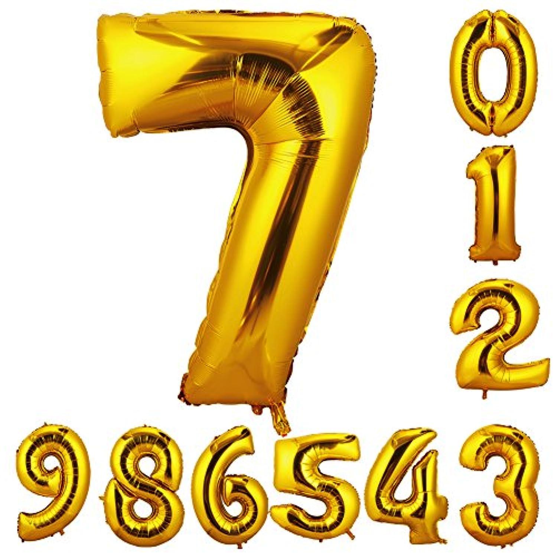 90cm 数字7 風船 数字バルーン ゴム風船 誕生日 パーティー飾りに