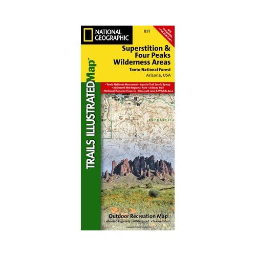 National Geographic Maps TI00000851 Superstition and Four Peaks Wilderness Areas, Tonto National Forest Map