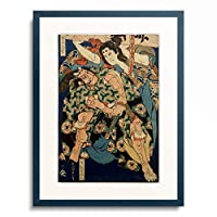 葛飾北斎 Katsushika Hokusai 「楠多門丸正重 八尾の別當常久」 額装アート作品