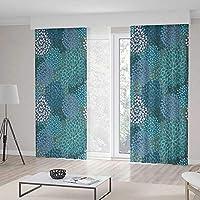 YOLIYANA 遮光カーテン フルール・ド・リス リビングルーム/ベッドルームの装飾 モノクローム 抽象的 曲線美 オーナメント グラフィック スタイライズ トラディショナルな渦巻き模様 103W X 96L Inches Z09_B_1_Blackout Curtains_161214