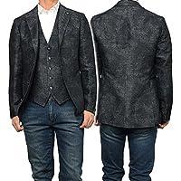 (タリアトーレ)TAGLIATORE メンズシングル2Bジャケット MONTECARLO / 1SMC22K 66QEG021 グレーカモフラージュ [並行輸入品]