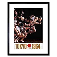 Advert Sport Exhibition Olympic Games Tokyo 1964 Framed Wall Art Print 広告スポーツ展示会オリンピックゲーム東京壁