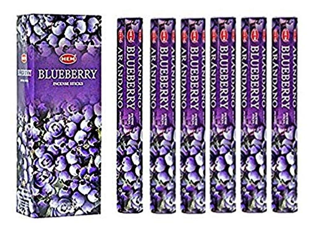 お父さん聖域イヤホンBlueberry - Box of Six 20 Stick Tubes, 120 Sticks Total - HEM Incense by HEM 6 Pack 20 Stick