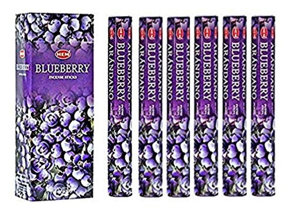 パッケージマッシュ応用Blueberry - Box of Six 20 Stick Tubes, 120 Sticks Total - HEM Incense by HEM 6 Pack 20 Stick