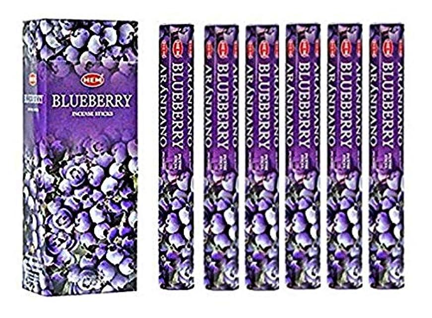 シールためらう楽しませるBlueberry - Box of Six 20 Stick Tubes, 120 Sticks Total - HEM Incense by HEM 6 Pack 20 Stick
