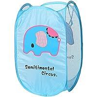 かわいいリラックマ ブラウン 折りたたみ式 洗濯物 おもちゃ整理 衣服 靴下 バスケット 収納バッグ (3)