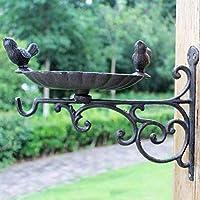HZB キャストアイアン手芸アイアンタイフック、2つの鳥ヨーロッパスタイルの中庭ハンギングブルーフック、鳥類食品流域の装飾フック