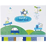 C.R. Gibson Baby's First Year Calendar, by Jill McDonald, Stickers Provided, Measures 11 x 18 - Boy Oh Boy