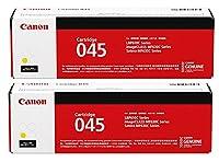 CANON CRG-045 トナーカートリッジ 純正 イエロー 2本セット