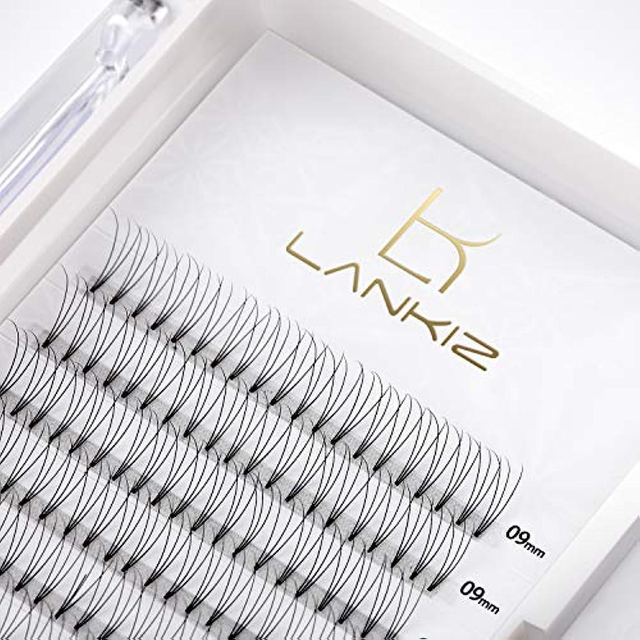 引数救い頬骨LANKIZ まつげエクステ 3D ボリュームまつげ Cカール 太さ0.10 11mm 12列 マツエク(3本束)