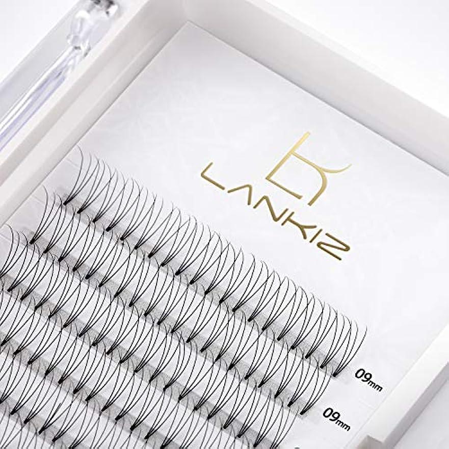 噴水区別魅力的LANKIZ まつげエクステ 3D ボリュームまつげ Cカール 太さ0.10 11mm 12列 マツエク(3本束)