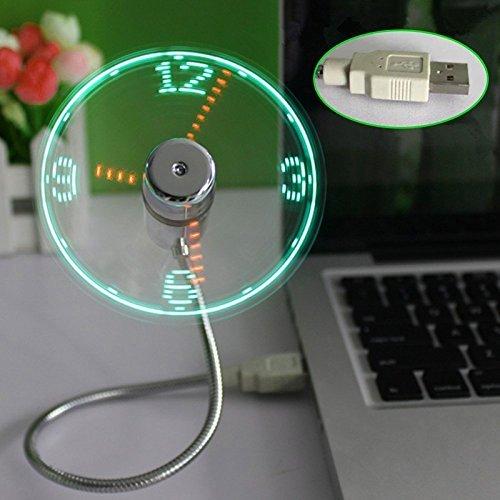 (デマ―クト)De.Markt USB充電用のLEDライト LEDクロックファン 扇風機 2枚羽 ミニUSBフレキシブルなタイ...