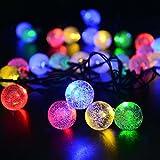 リーダーテク(lederTEK) ソーラー 防雨防水型 泡入りボール 電飾 イルミネーション LED 6m 30球 8点滅モデル クリスマス ライト 飾り付け (カラー)