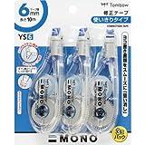 トンボ鉛筆 修正テープ MONO YS6 KCA-327 3個