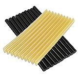 Yoohe グルースティック ホットメルト デントリペア用品 接着剤 グルーガン用スティック 長さ27センチ*直径0.7センチ 黒色&黄色20本入り