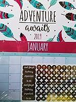 2019 Adventure Awaits Hanging Calendar (w/Stickers) [並行輸入品]