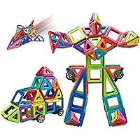 PerPure マグネットブロック 磁石ブロック 立体パズル モデルDIY 76ピース 磁気建築おもちゃ 創造力を育てる