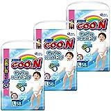 【ケース販売】グーン(GOO.N) やわらかフィットパンツ Lサイズ (9~14kg) 174枚(58枚入×3パック) 男の子