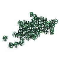 Fityle 約50個 アクリル ダイス サイコロ 骰子 DND MTG RPGゲーム用 全7色 - 緑
