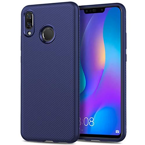 の Huawei Y9 2019 バックケース MeetJP 耐衝撃性 シェル 全面保護カバー - Dark Blue