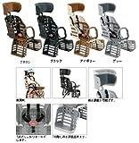 YAMAHA(ヤマハ) ヘッドレスト付デラックスリアチャイルドシート(後ろ子供乗せ) ブラウン (E35) 電動自転車専用 3人乗り自転車対応!