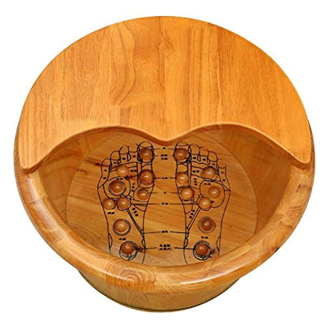 同一のほかに会議スギ足浴、足浴、足浴、足浴、リフレクソロジー、パッド入り、木製,With Lid