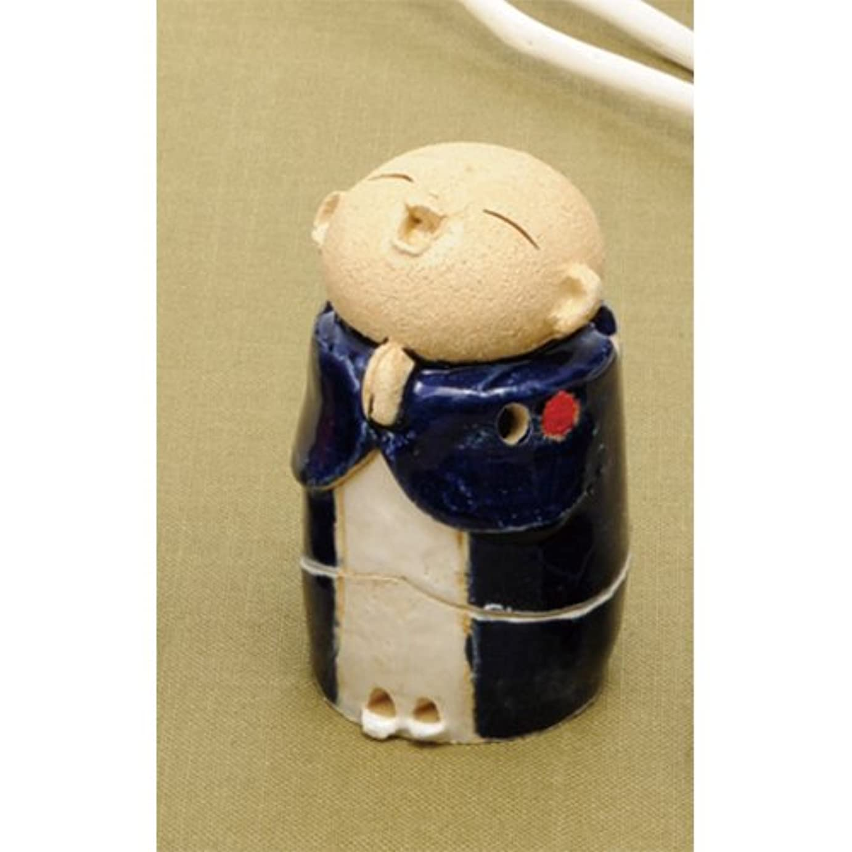 議会コースリスキーなお地蔵様 香炉シリーズ 青 お地蔵様 香炉 2.8寸 [H8.5cm] HANDMADE プレゼント ギフト 和食器 かわいい インテリア