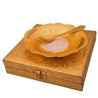 Tuzechシルバーゴールドメッキ真鍮Small Serving Platter withスプーン