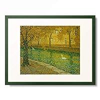 アンリ・ル・シダネル Henri Le Sidaner 「Le Canal, Annecy. 1936」 額装アート作品