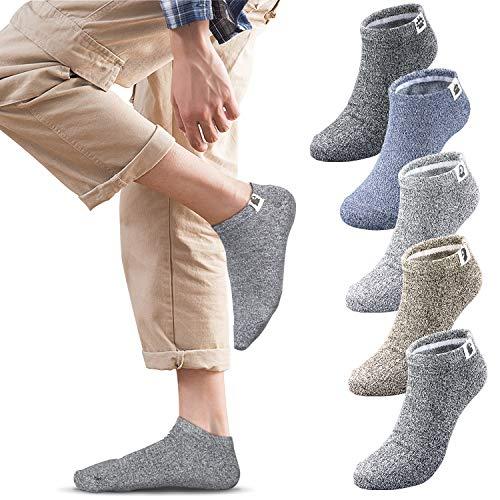 メンズソックス フットカバー ソックス 靴下 メンズ くるぶしソックス くるぶし靴下 ショートソックス スニーカーソックス スポーツ用抗菌防臭 通気性抜群 5足組 24-28cm