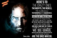 "18 "" x12 "" ( Steve Jobs ) Here 's to the crazy ones-ポスター用紙印刷"