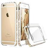 iPhone6s ケース クリア ESR iPhone6 ケース おしゃれ キラキラ 高級感 ソフトバンパー 傷防止バックカバー アルミ耐衝撃 アイフォンケース 4.7インチ 全4色(ゴールド)