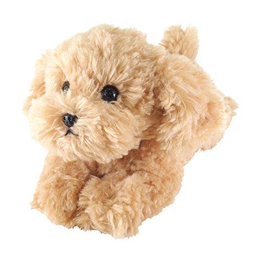 [해외]ひざわんこ 토이 푸들 베이지 인형/Knicker Toy Poodle Beige Plush Toy