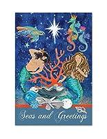 "Magnolia 30"" x 44"" ""ビーチNativity Seas and Greetingsクリスマス""フラグ、Large"