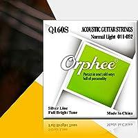 ACHICOO Orphee Qシリーズ6本のアコースティックストリングセットシルバーメッキアコースティックギターストリング Q160S