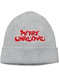 ニット帽 クリスマス Xmas Christmas ニットキャップ 帽子 男女兼用 薄手 通気性 6色展開 フリーサイズ One Size グレー
