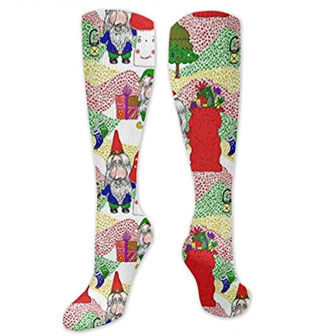 ギャザー船乗りとんでもない靴下,ストッキング,野生のジョーカー,実際,秋の本質,冬必須,サマーウェア&RBXAA Christmas Santa, Gnome and Elf Socks Women's Winter Cotton Long Tube...