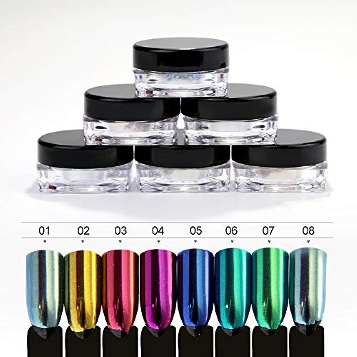 代名詞医療過誤子羊Twinkle Store  8個、 1g入り ネイルパウダー ネイルアート ミラーパウダー 鏡面効果がある、 ネイル初心者でも簡単です。