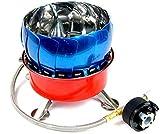 YAZZMAT カセットガス(CB缶)&アウトドアボンベ(OD缶) 互換 アダプター付 2WAY シングルバーナー 【風防機能モデル】携帯バッグ付き ポケット ミニコンロ 2種類のガスの使い分けが可能